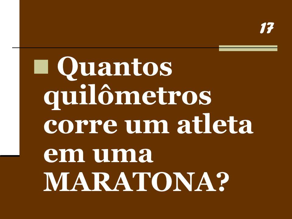 Quantos quilômetros corre um atleta em uma MARATONA