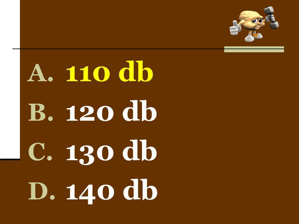 110 db 120 db 130 db 140 db