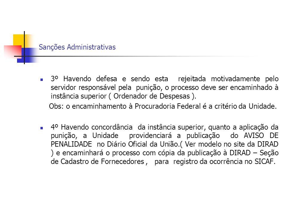 Sanções Administrativas