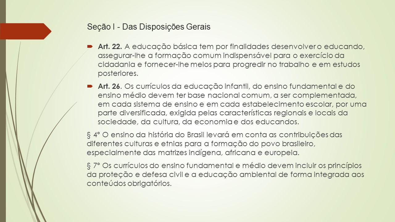 Seção I - Das Disposições Gerais