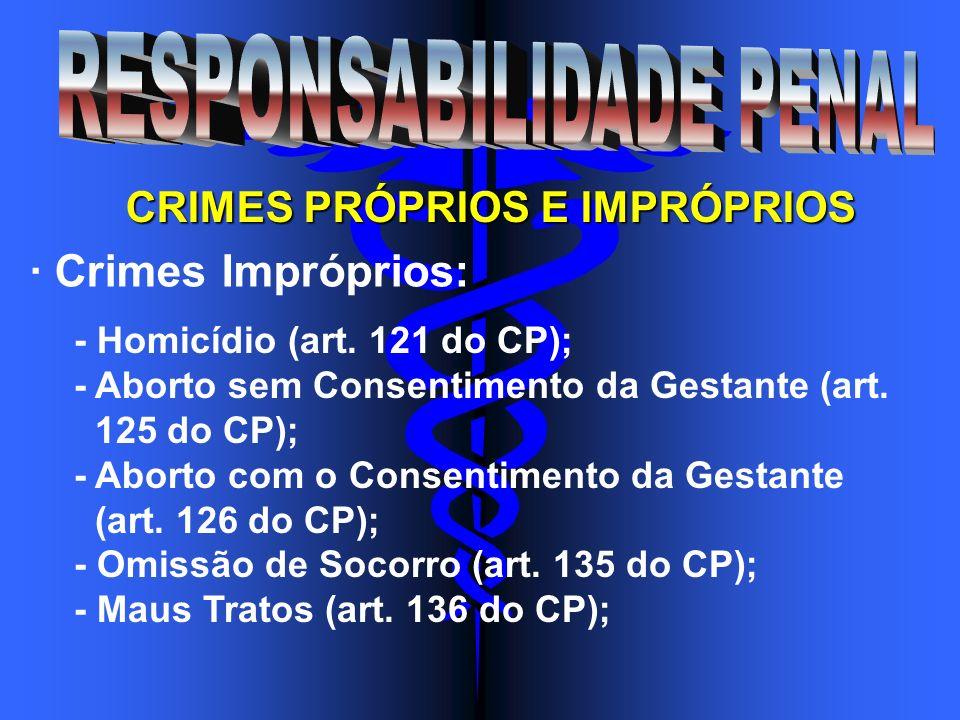 CRIMES PRÓPRIOS E IMPRÓPRIOS