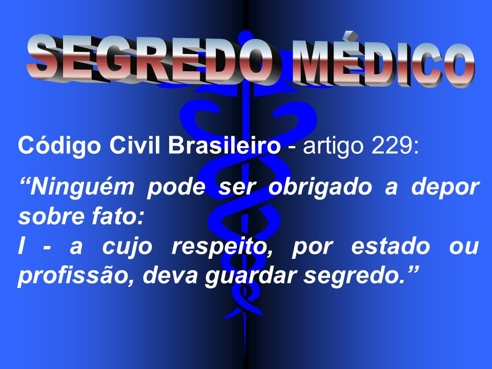 Código Civil Brasileiro - artigo 229: