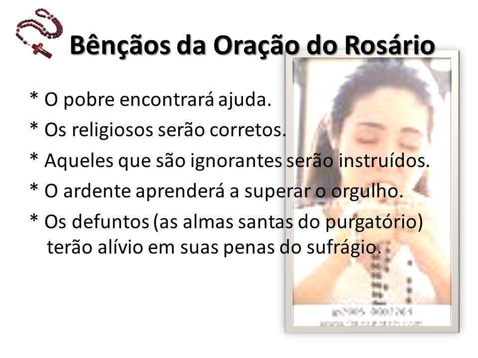 Bênçãos da Oração do Rosário