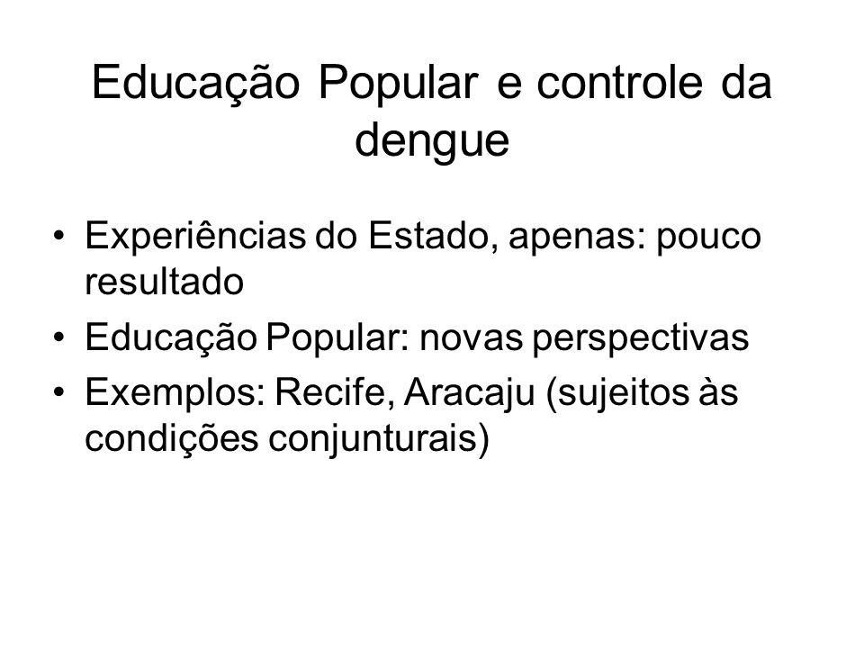 Educação Popular e controle da dengue