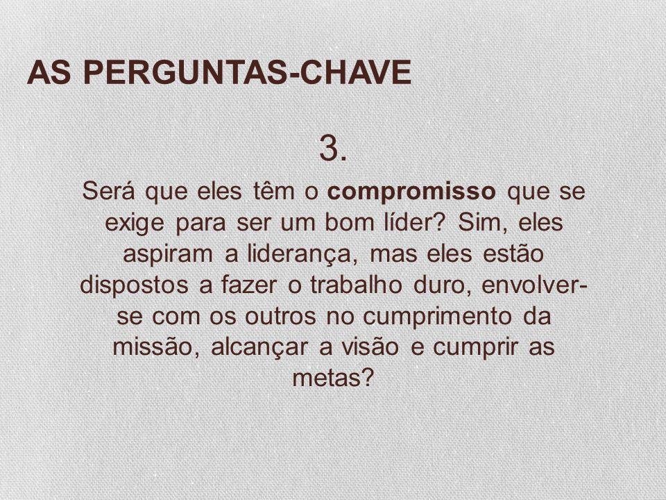 AS PERGUNTAS-CHAVE 3.