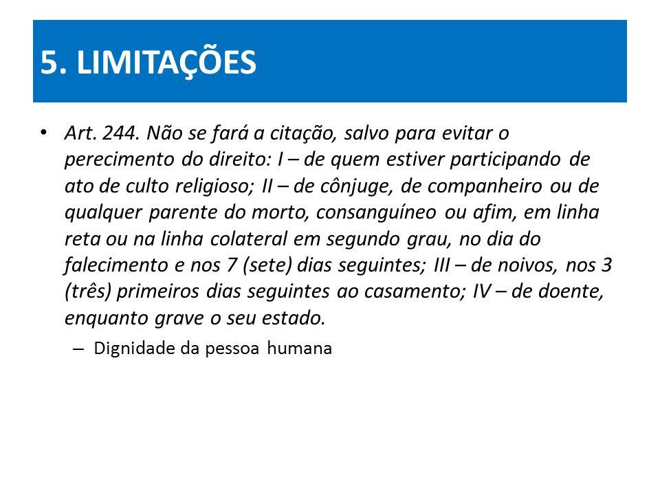 5. LIMITAÇÕES