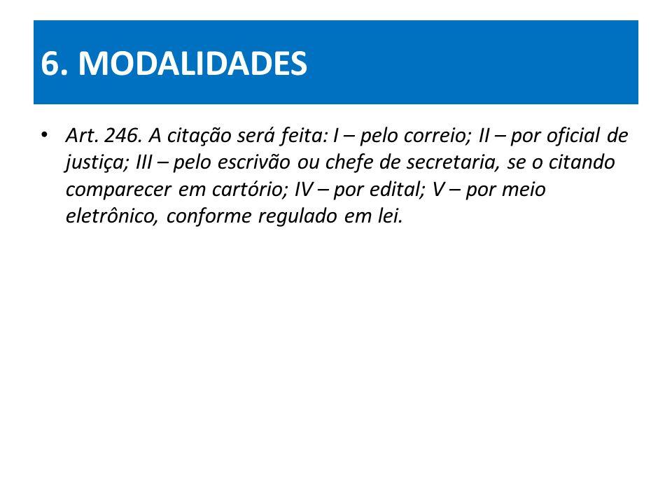 6. MODALIDADES