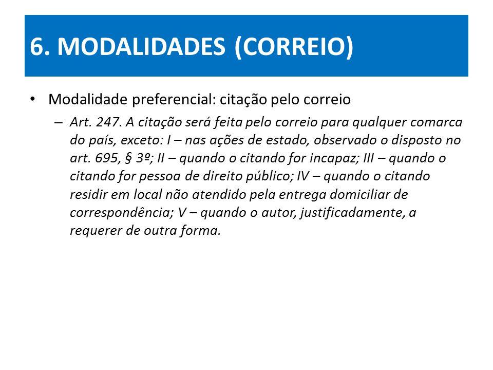 6. MODALIDADES (CORREIO)