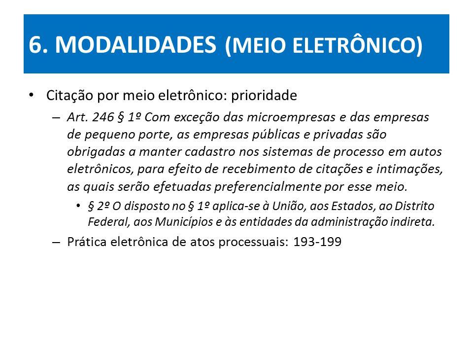 6. MODALIDADES (MEIO ELETRÔNICO)