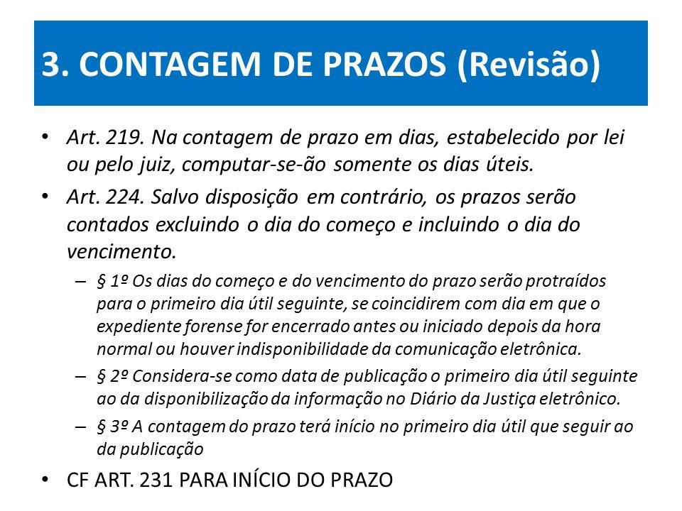 3. CONTAGEM DE PRAZOS (Revisão)