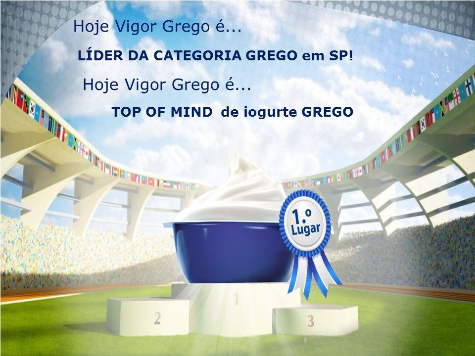 LÍDER DA CATEGORIA GREGO em SP! TOP OF MIND de iogurte GREGO