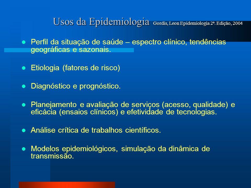 Usos da Epidemiologia Gordis, Leon Epidemiologia 2ª. Edição, 2004