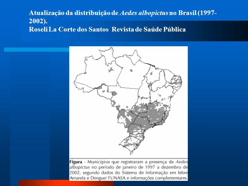 Atualização da distribuição de Aedes albopictus no Brasil (1997-2002).