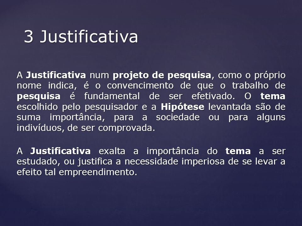 3 Justificativa