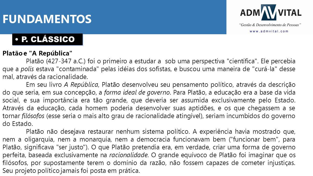 FUNDAMENTOS P. CLÁSSICO Platão e A República