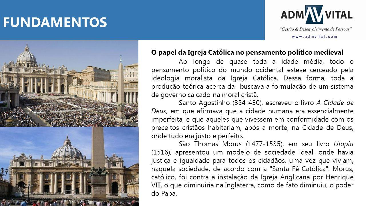 FUNDAMENTOS O papel da Igreja Católica no pensamento político medieval.