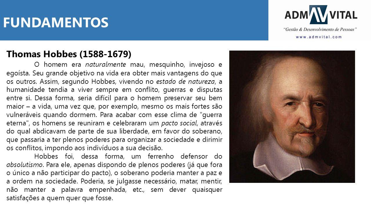 FUNDAMENTOS Thomas Hobbes (1588-1679)
