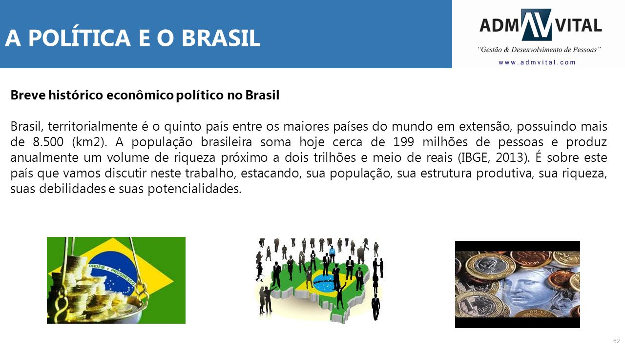 A POLÍTICA E O BRASIL Breve histórico econômico político no Brasil