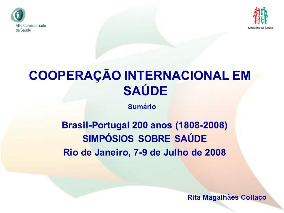 COOPERAÇÃO INTERNACIONAL EM SAÚDE