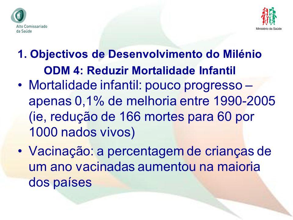 1. Objectivos de Desenvolvimento do Milénio