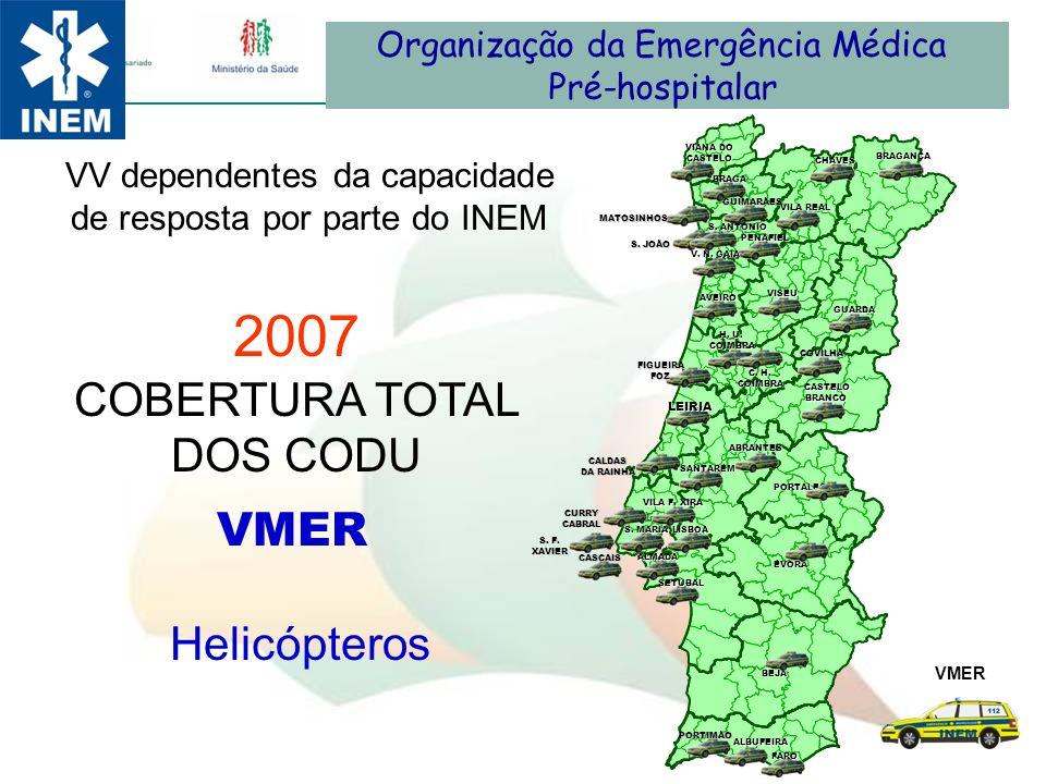 2007 COBERTURA TOTAL DOS CODU VMER Helicópteros