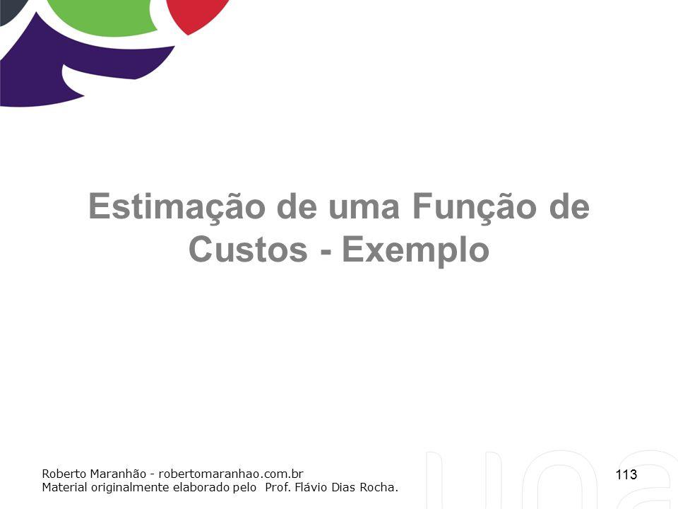 Estimação de uma Função de Custos - Exemplo