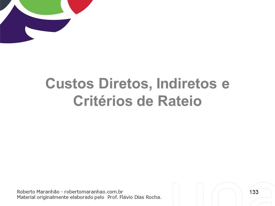 Custos Diretos, Indiretos e Critérios de Rateio