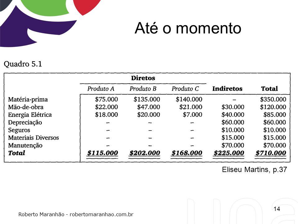 Até o momento Eliseu Martins, p.37