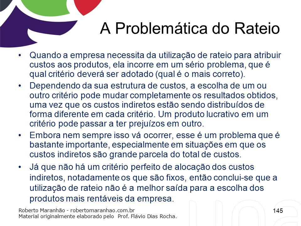 A Problemática do Rateio