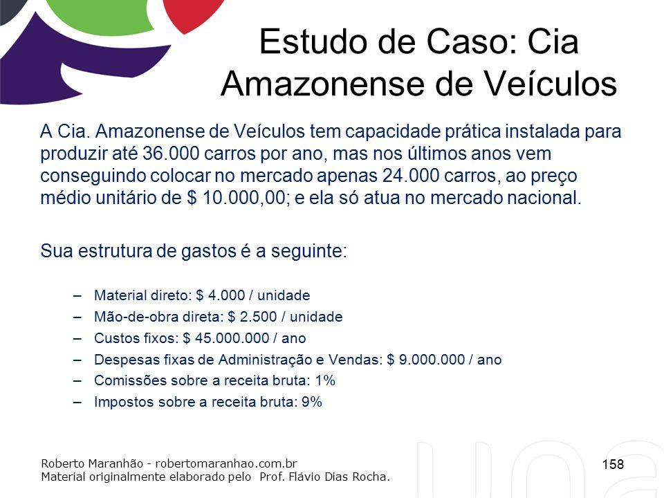 Estudo de Caso: Cia Amazonense de Veículos