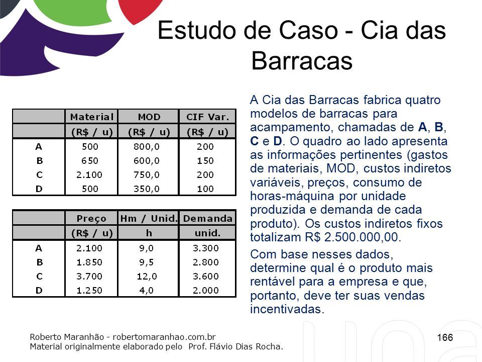 Estudo de Caso - Cia das Barracas