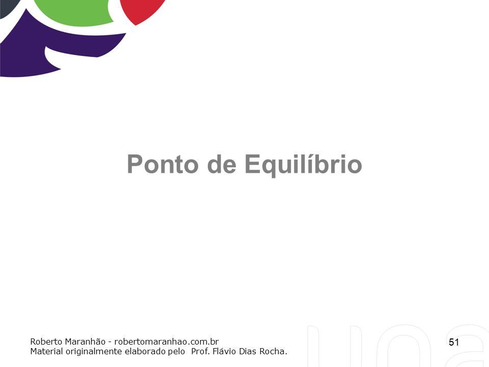 Ponto de Equilíbrio Roberto Maranhão - robertomaranhao.com.br