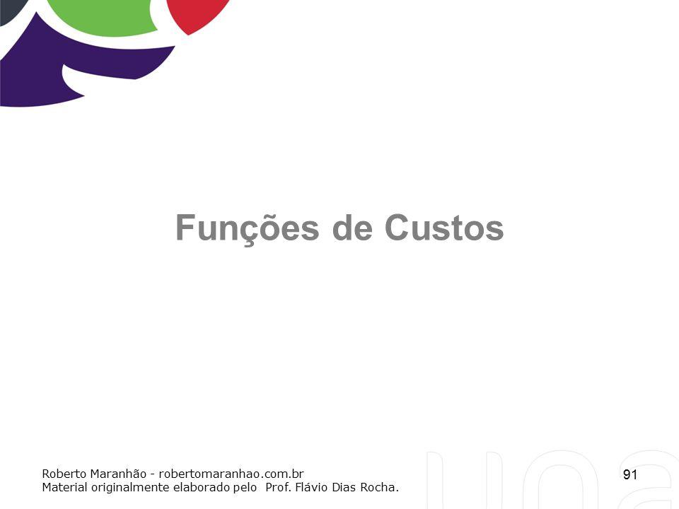 Funções de Custos Roberto Maranhão - robertomaranhao.com.br