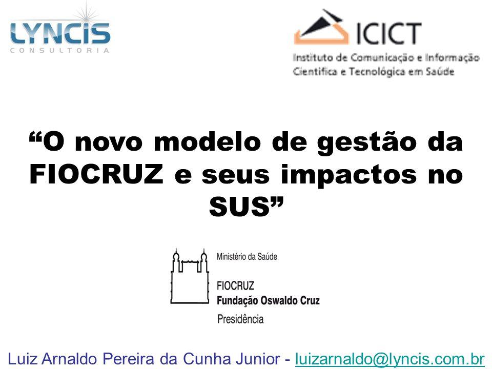 O novo modelo de gestão da FIOCRUZ e seus impactos no SUS