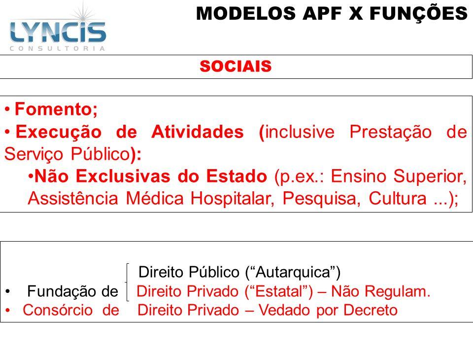 Execução de Atividades (inclusive Prestação de Serviço Público):