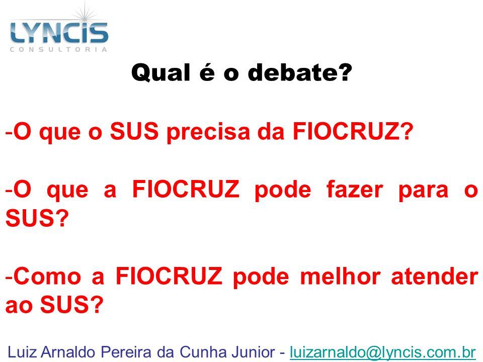 Luiz Arnaldo Pereira da Cunha Junior - luizarnaldo@lyncis.com.br