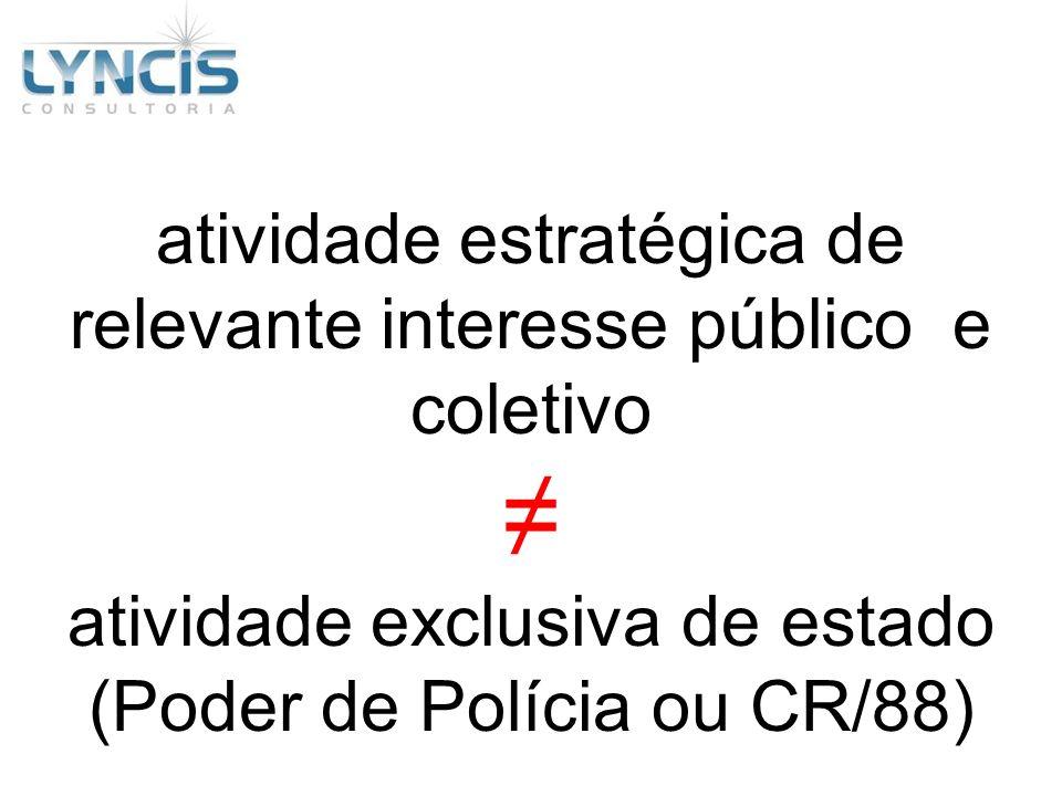 ≠ atividade estratégica de relevante interesse público e coletivo
