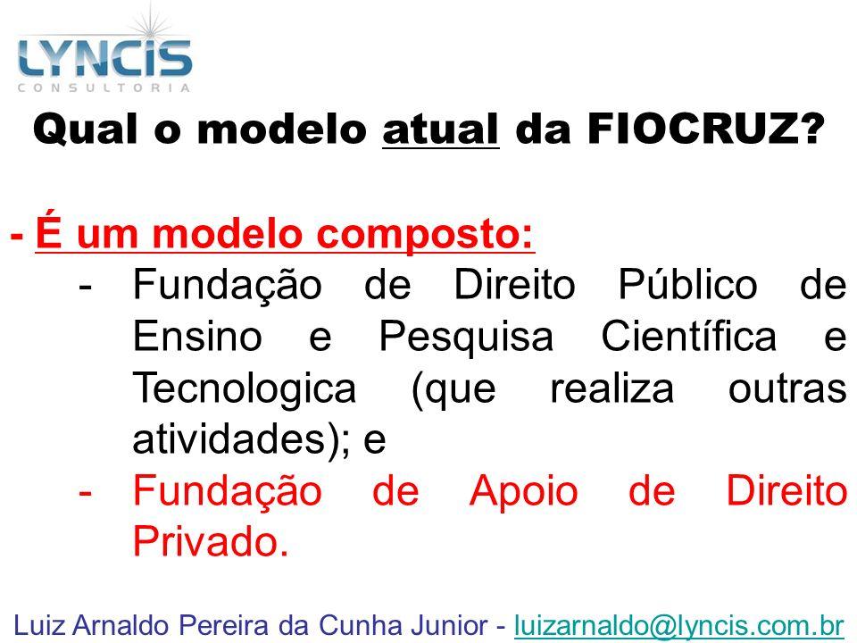 Qual o modelo atual da FIOCRUZ