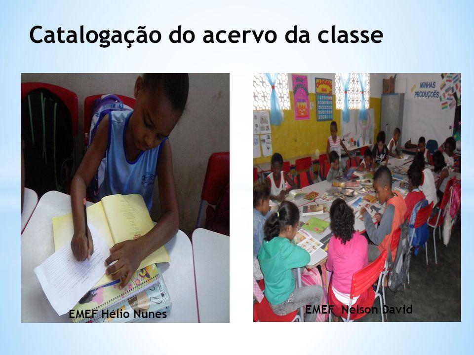 Catalogação do acervo da classe