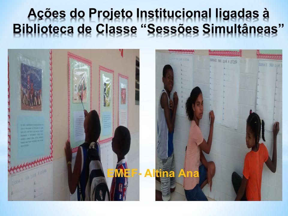 Ações do Projeto Institucional ligadas à Biblioteca de Classe Sessões Simultâneas
