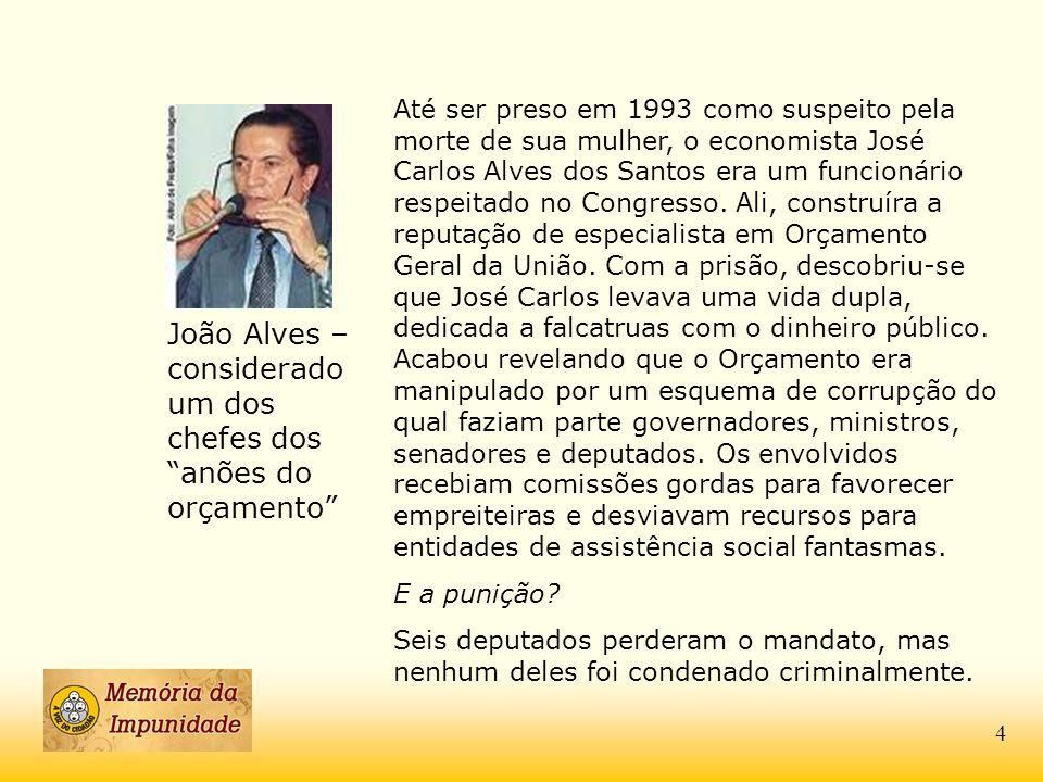João Alves – considerado um dos chefes dos anões do orçamento