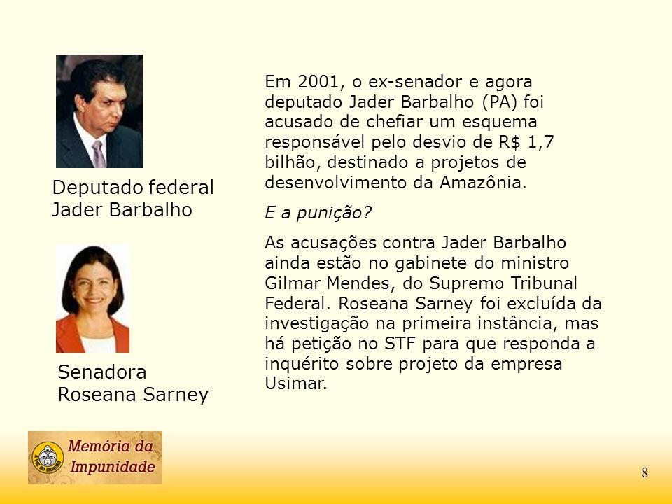 Deputado federal Jader Barbalho
