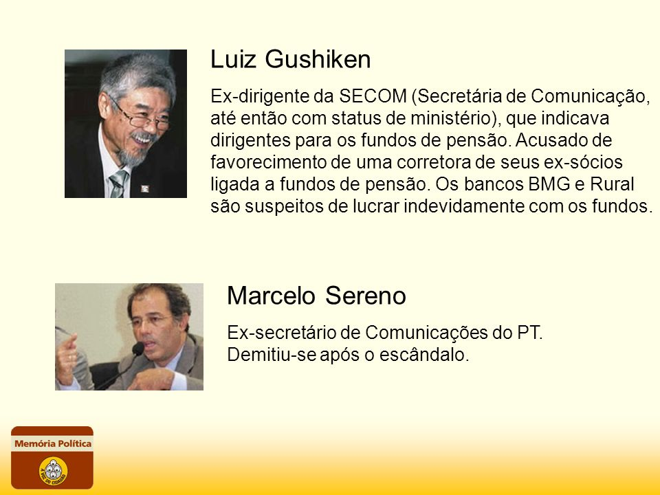Luiz Gushiken Marcelo Sereno