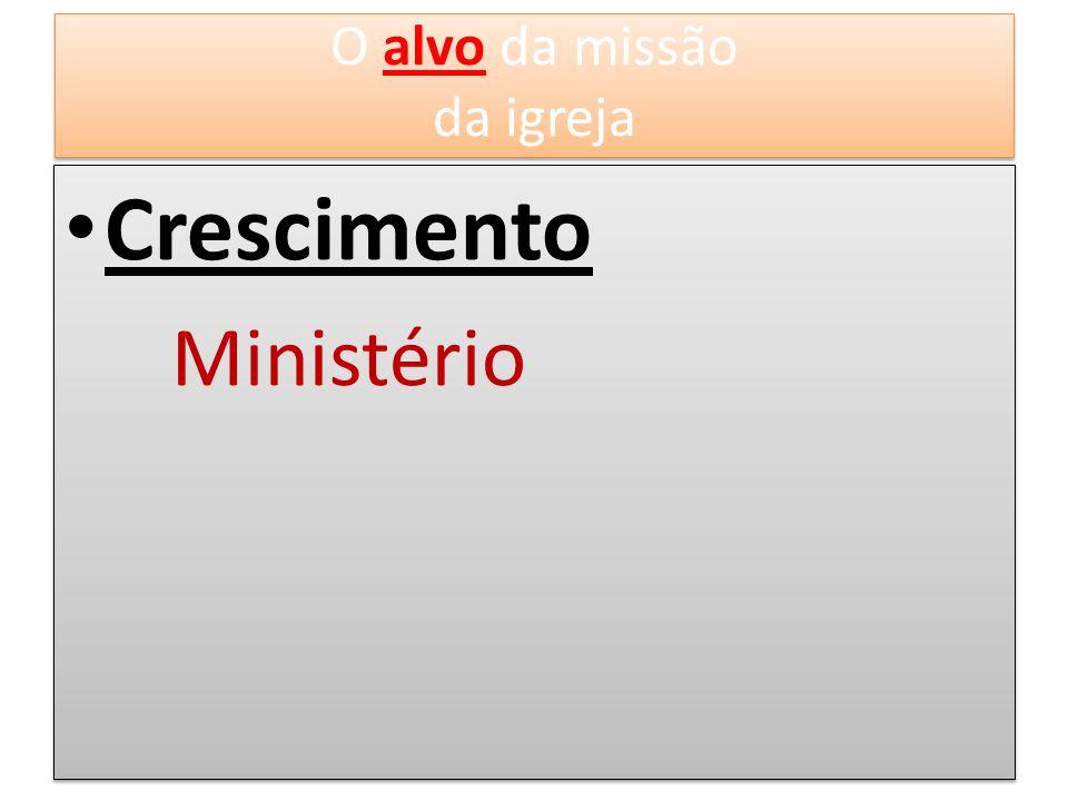 O alvo da missão da igreja Crescimento Ministério