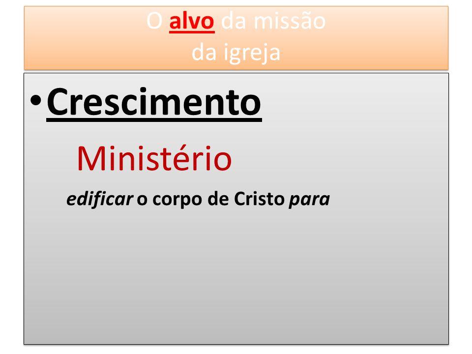 Crescimento O alvo da missão da igreja Ministério