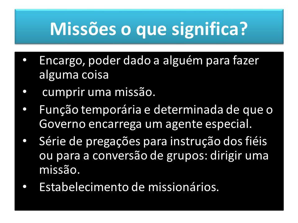 Missões o que significa