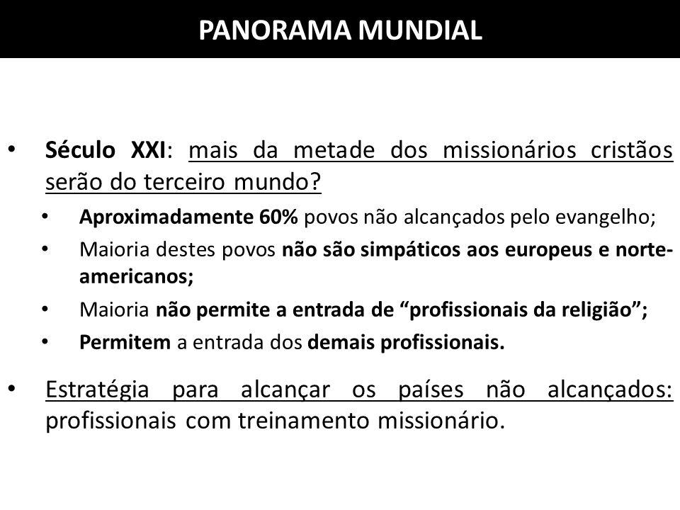 PANORAMA MUNDIAL Século XXI: mais da metade dos missionários cristãos serão do terceiro mundo