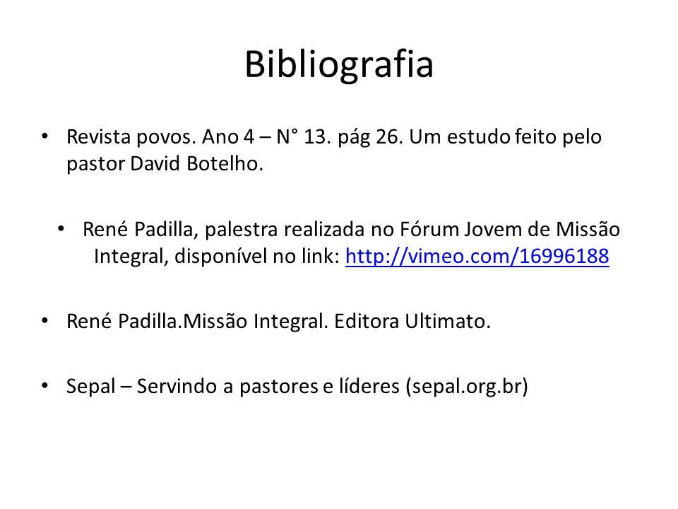 Bibliografia Revista povos. Ano 4 – N° 13. pág 26. Um estudo feito pelo pastor David Botelho.