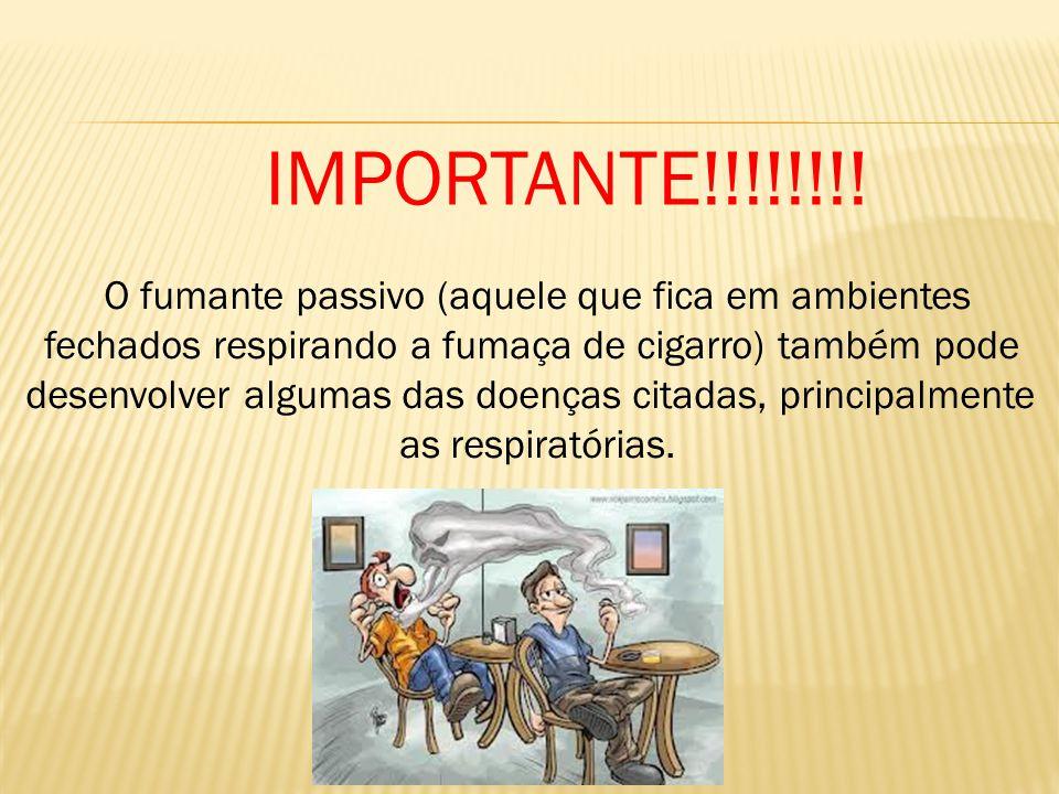 IMPORTANTE!!!!!!!! O fumante passivo (aquele que fica em ambientes