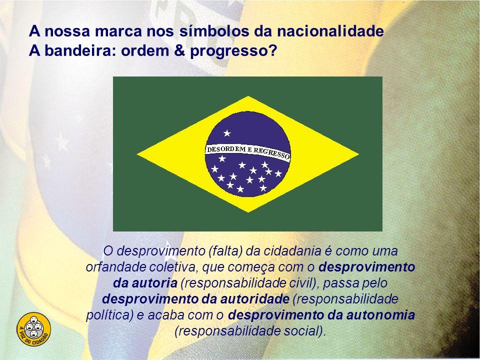 A nossa marca nos símbolos da nacionalidade A bandeira: ordem & progresso